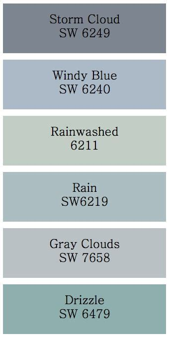 colors that look with blue cloud and gray clouds hmmm those would look