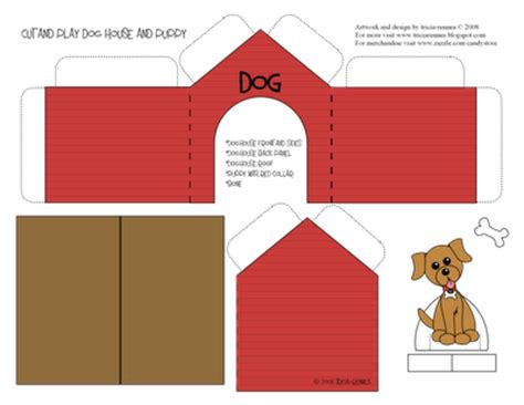 printable snoopy house tricia rennea illustrator cut and play doghouse taylor