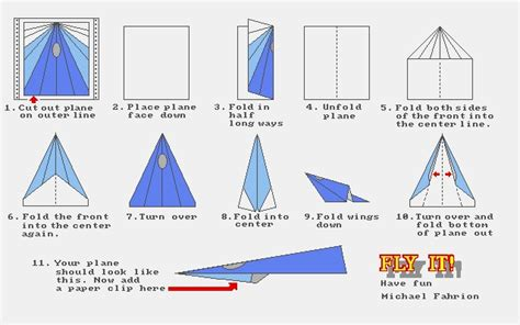 Paper Airplane Folds - paperplane folding lesson ideas