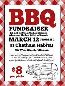 bbq fundraiser flyer template announcing upcoming bbq fundraiser chatham habitat for