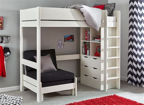 Tinsley Highsleeper With Chest And Storage Black And