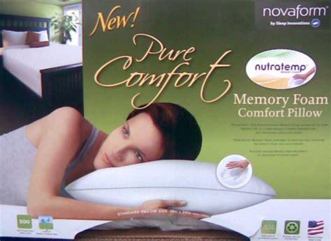 pure comfort memory foam pillow pure comfort memory foam pillow by sleep innovations