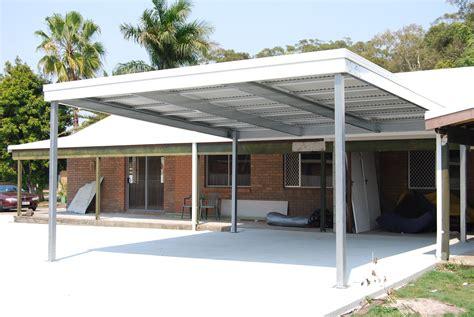 Shed Roof Carport Plans by Skillion Carport Allcover Carports