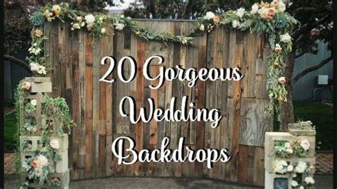 wedding backdrop ideas youtube
