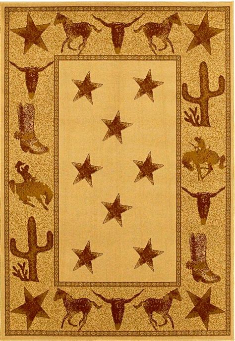 Western Area Rugs Mr Hs7662 8x10 Cowboy Up Rustic Western Area Rug 7 10 X 9 10