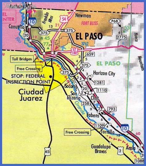 el paso map el paso map tourist attractions toursmaps