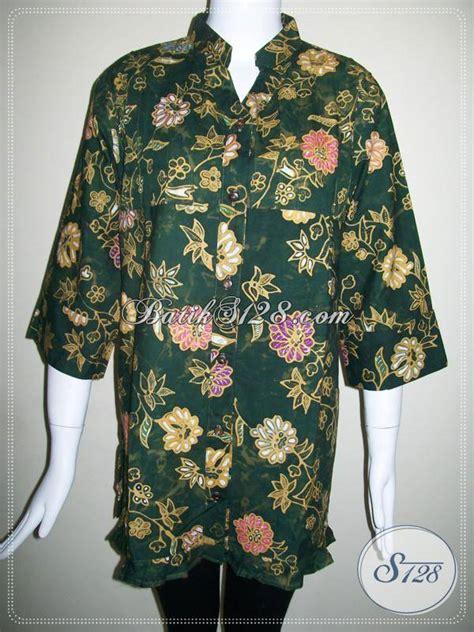 Baju Batik Warna Hijau baju batik wanita kombinasi tulis blus batik wanita warna