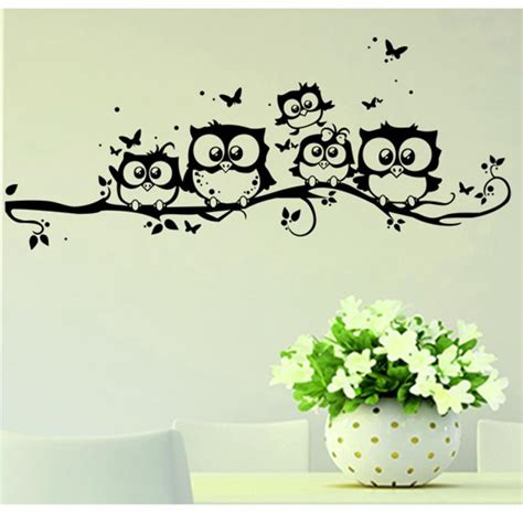 wall stickers home decor wall sticker tree animals bedroom owl butterfly wall