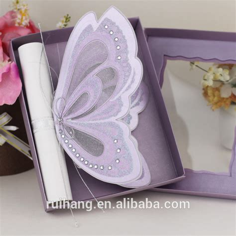 Wedding Invitation Card Roll by Scroll Handmade Roll Butterfly Wedding Invitation Cards