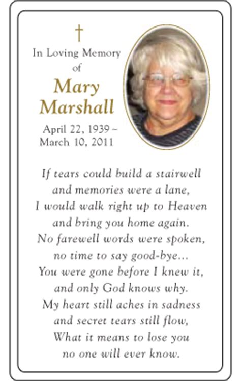 how to make a memorial card memorial card layout funeral card layout prayer card