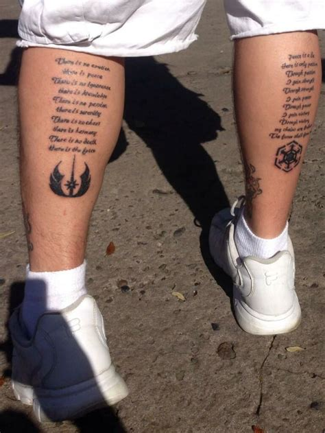jedi tattoos jedi and sith code tattoos starwars via https