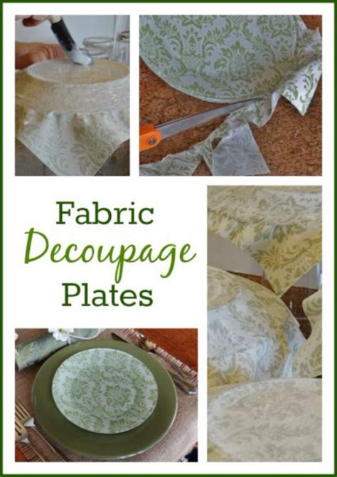 Fabric Decoupage Projects - 34 cool diys to make with plates and dishes page 6 of 7