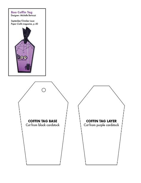 coffin card template coffin template free for tags