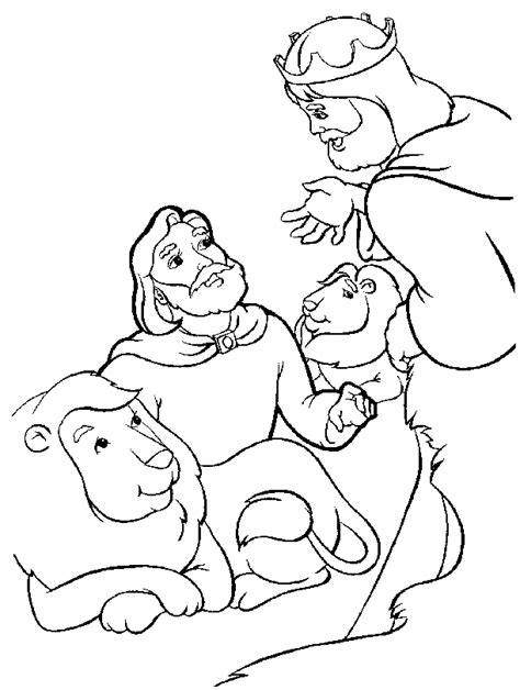 daniel and the lions den coloring pages coloring home