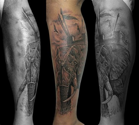 war elephant tattoo calf tattoos for tattoos