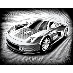 List Bije Line Reeves Scraperfoil Silver Foil Car Scratchboards And