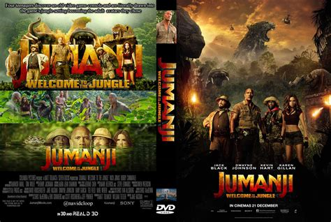 film 2017 jumanji jumanji welcome to the jungle 2017 r2 custom dvd cover