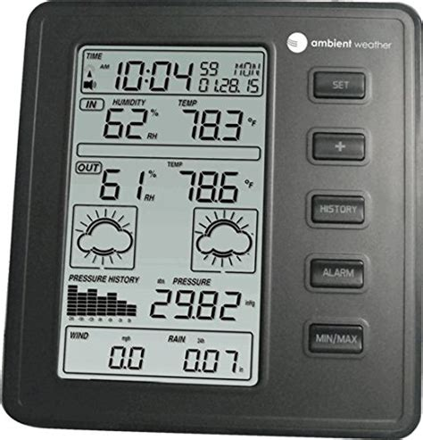 ambient weather ws 1075 wireless home weather station with