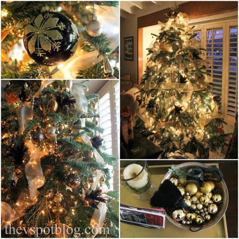 a black and gold christmas holiday house tour the v spot