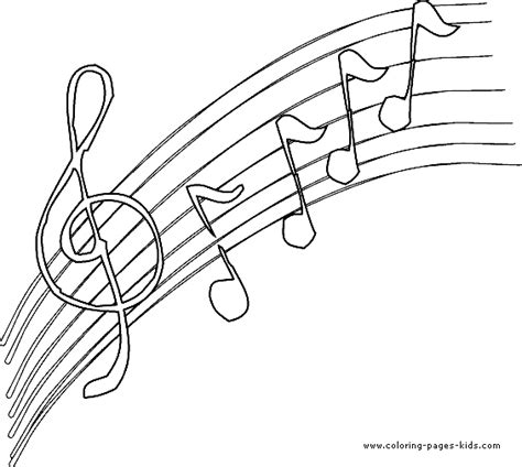 coloring page for music music color page coloring pages for kids miscellaneous