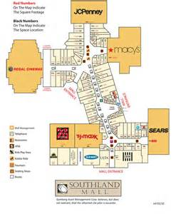 map of mall of directory southland mall