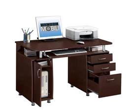 Desk With Computer Storage Techni Mobili Rta 4985 Ch36 Pedestal Multifunction Computer Workstation