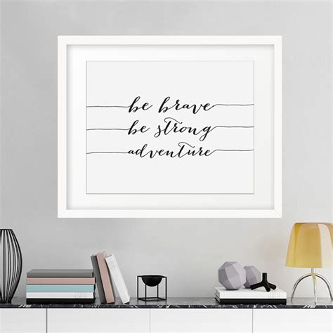 Poster Quotes Wall Bingkai Kayu Kitchen aliexpress buy be brave be strong adventure canvas painting inspirational motivational