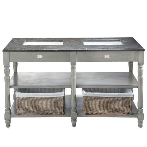 mobili betulla mobile grigio in betulla e marmo per doppio lavandino l