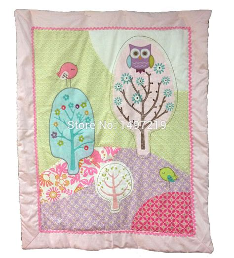 Crib Quilts Patterns by Aliexpress Buy Baby Crib Quilts Pink Color With