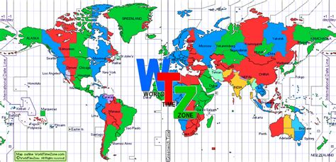 world cities time zone map wtz time zones world clock and call planner with