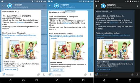 themes for telegram telegram v3 17 brings the long overdue support for custom