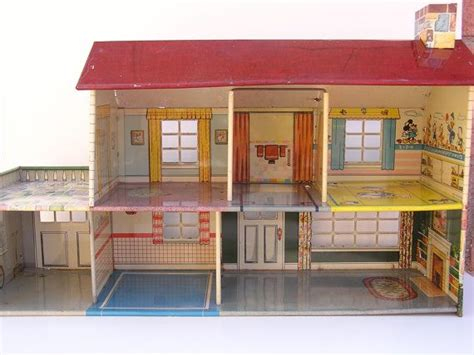 tin doll houses vintage 1950 s marx tin dollhouse with garage by mostlyminis i had one of these e