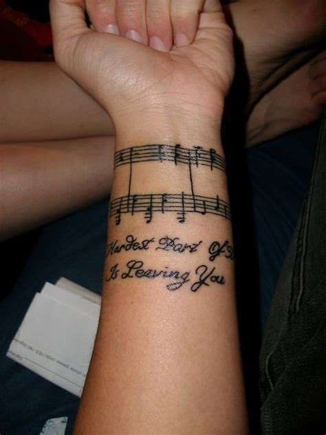 note tattoo designs 41 awesome notes tattoos on wrists