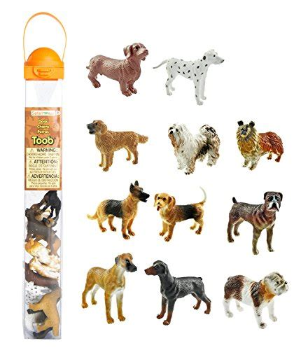 Figure Anjing Safari Ltd Toob safari ltd dogs toob with 11 painted figurines