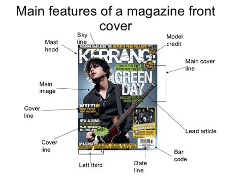 magazine layout ks2 main features of a magazine front cover