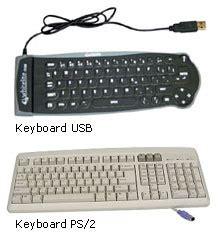 Keyboard Komputer Fleksibel komponen komputer smarter19