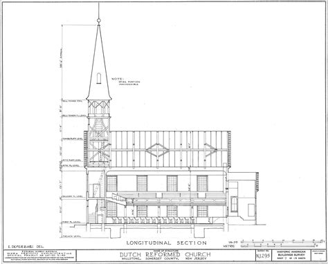 longitudinal section surveying hillsborough reformed church at millstone the view from