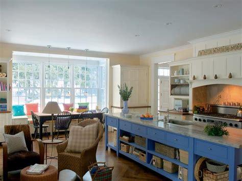country kitchen tv cottage kitchen with blue island hgtv
