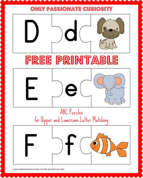 Letter Puzzles free educational materials archives only