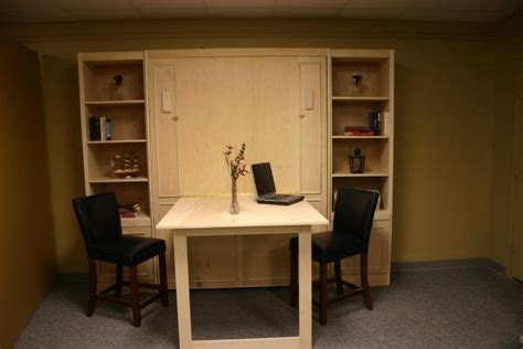 murphy bed with table murphy bed w bar height table custom by chris davis