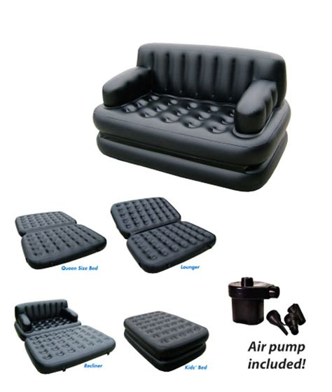 Air Sofa 5 In 1 Bed by Comfort Quest 5 In 1 Air Sofa Bed Catchme Lk