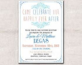 wedding reception only invitation wording casual 17 best images about wedding invitation on