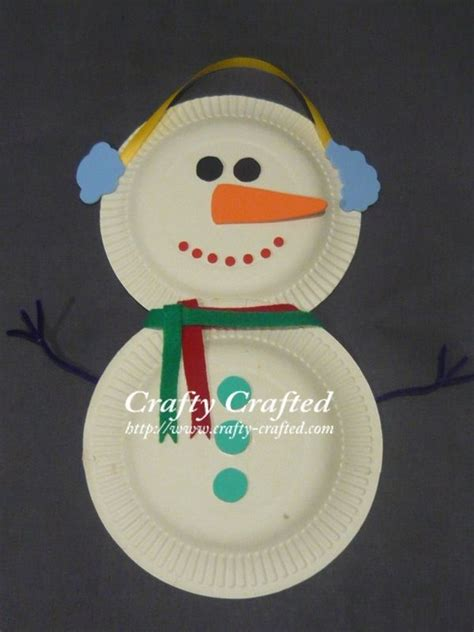 How To Make A Paper Plate Snowman - paper plate snowman winter tutorials