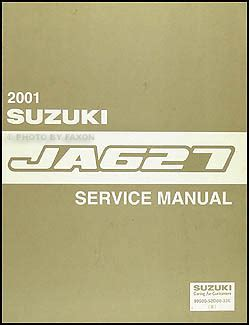 old car manuals online 2001 suzuki xl 7 instrument cluster 2001 suzuki xl 7 ja627 repair shop manual original