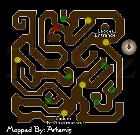 observatory dungeon map observatory dungeon runescape map observatory basement