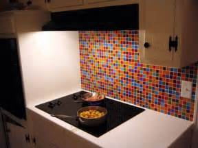 Multi Colored Backsplash - glass tile kitchen backsplash pictures imagine the