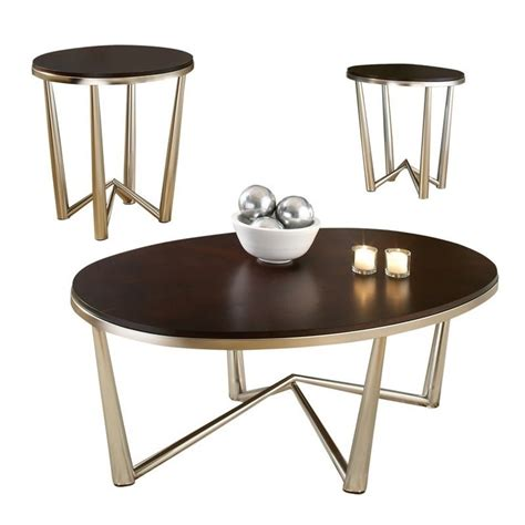 cocktail and end table sets steve silver company cosmo 3 modern cocktail and end
