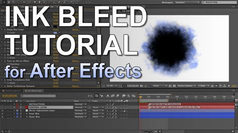 watercolor reveal tutorial ink bleeds tutorial after effects youtube