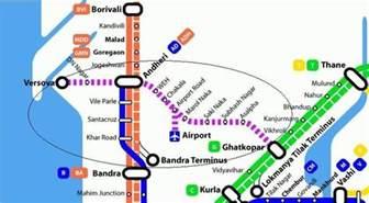 Mumbai Metro Map by Mumbai Metro Trains 2017 Routes Timetable Fares
