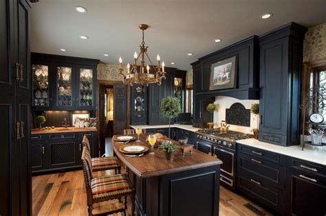 mobili eleganti cucina nera eleganza intramontabile